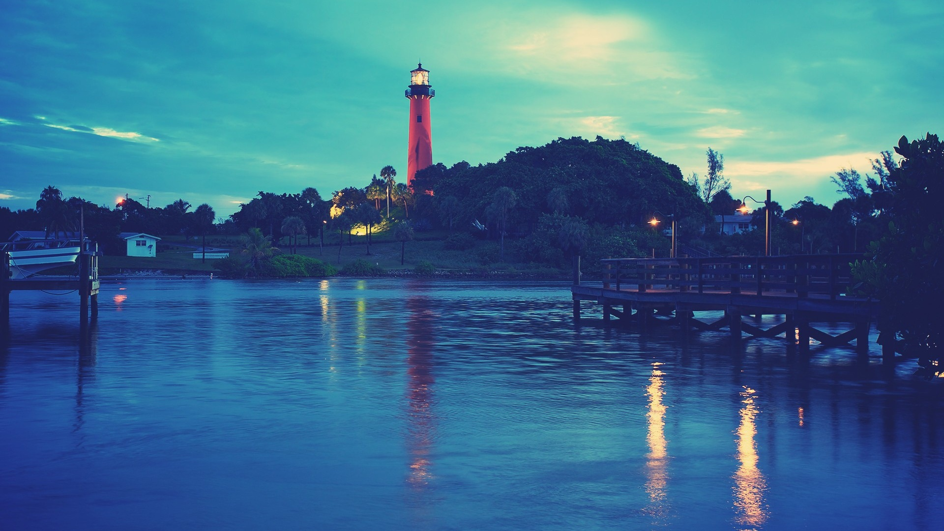 1920x1080 Hd Wallpapers For Your Desktop: 1920x1080 Lighthouse At Twilight Desktop PC And Mac Wallpaper