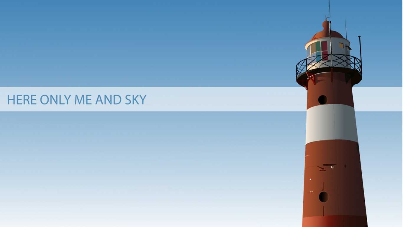 1366x768 Lighthouse red