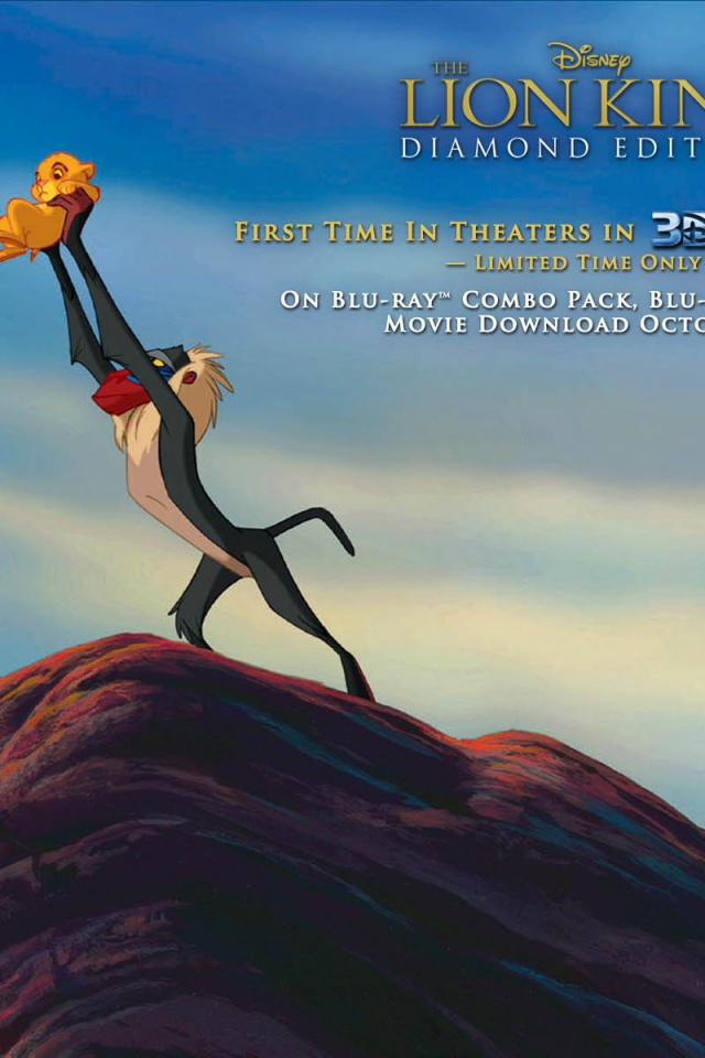 640x960 Lion King 3D Little Simba Iphone 4 Wallpaper
