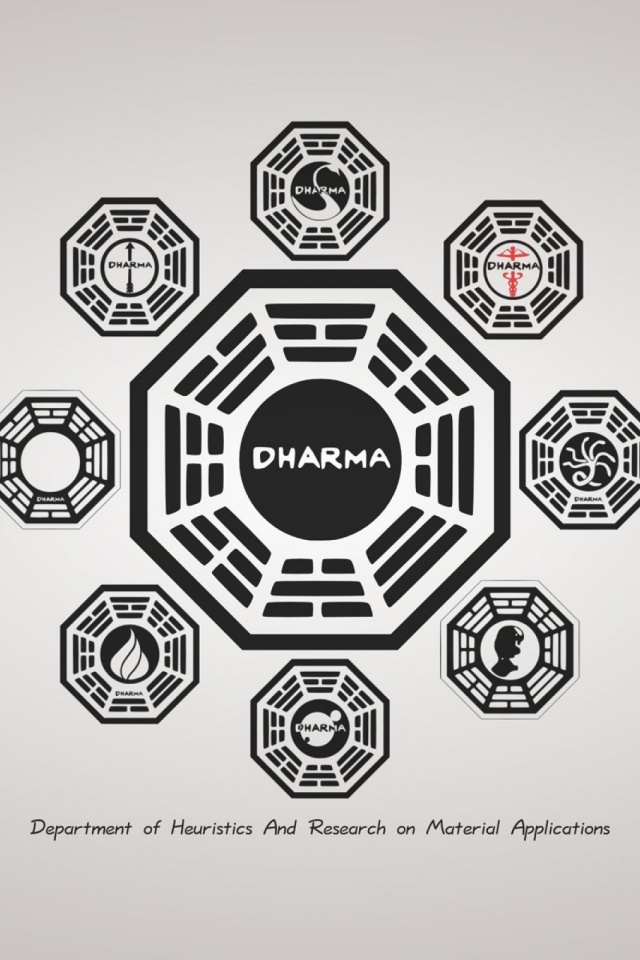 640x960 LOST Dharma Initiative Iphone 4 Wallpaper
