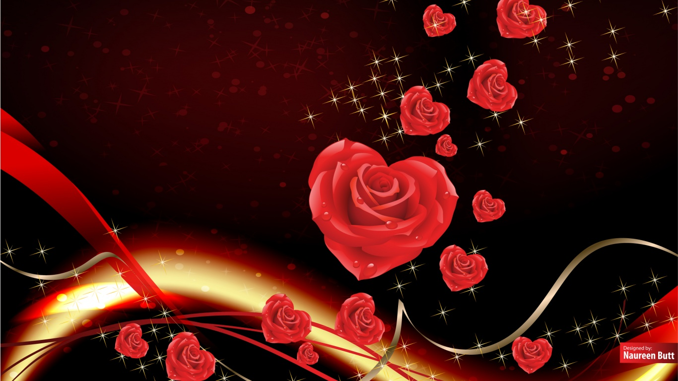Gm Wallpaper For Love : 1366x768 Love bringing roses desktop Pc and Mac wallpaper