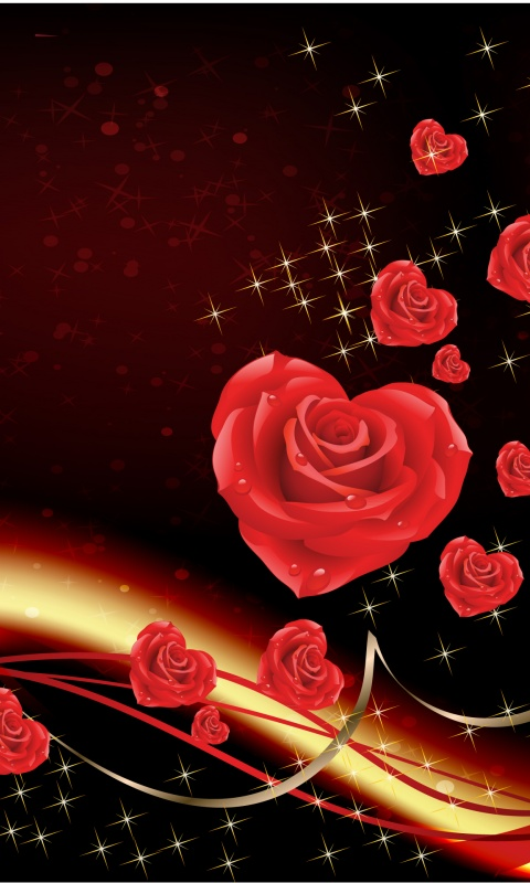 Love Wallpaper For Galaxy Grand 2 : 480x800 Love bringing roses Galaxy s2 wallpaper
