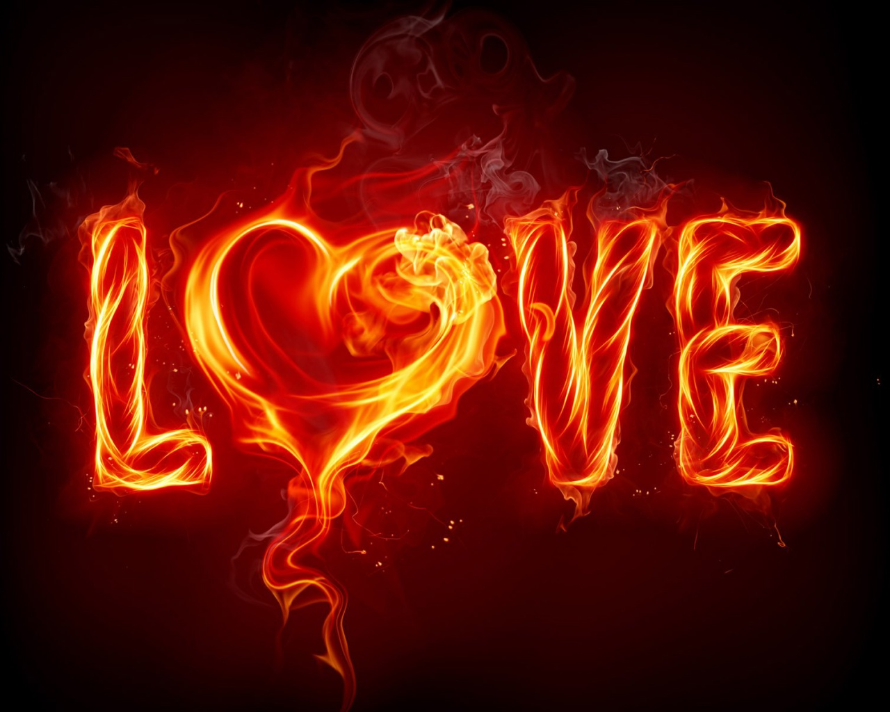 1280x1024 love fire heart abstract desktop pc and mac wallpaper