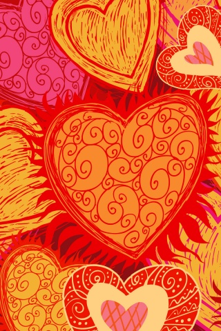 320x480 Love Hearts Iphone 3g wallpaper