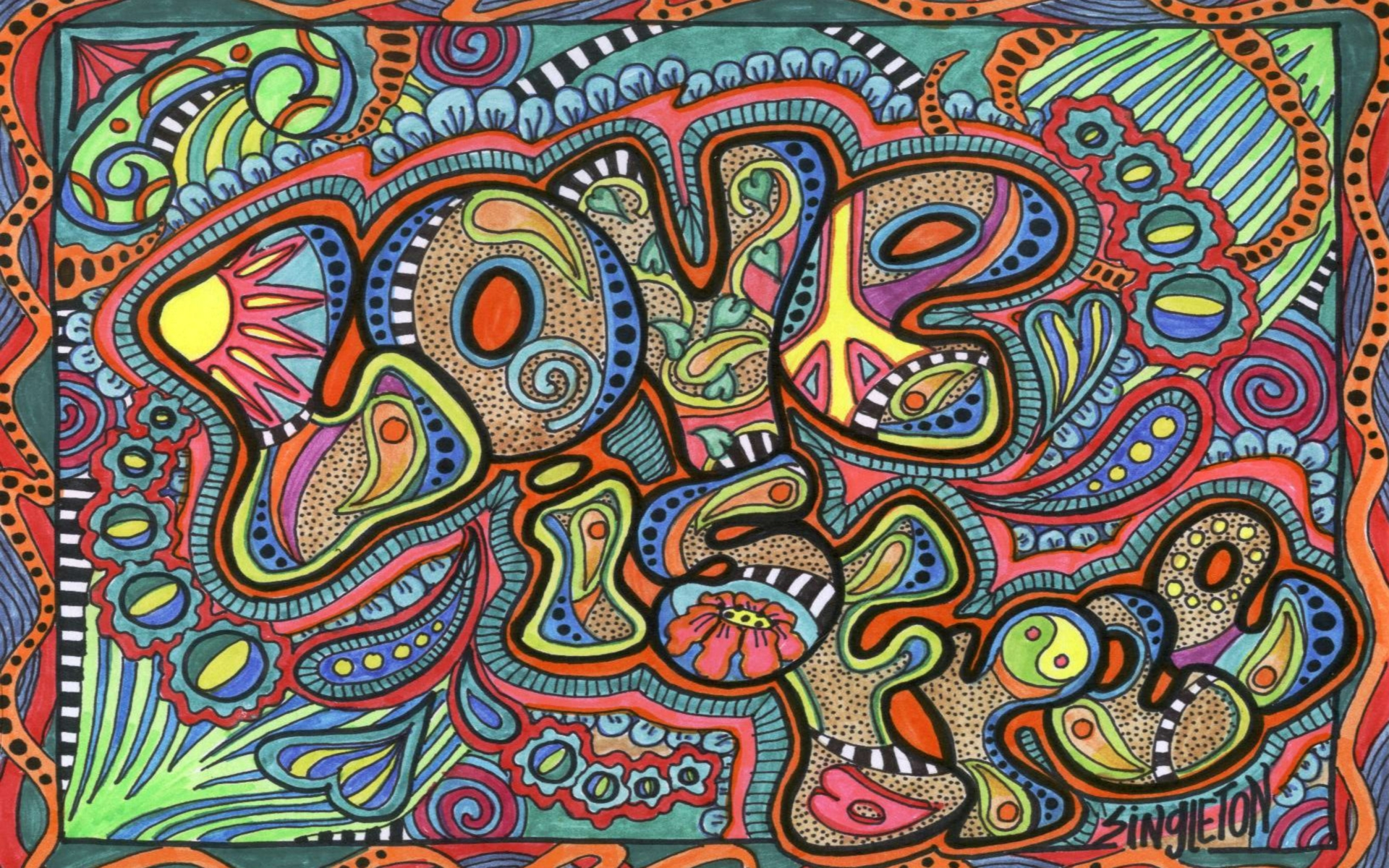 1920x1200 Love Is Free Psychedelic Desktop Pc And Mac Wallpaper