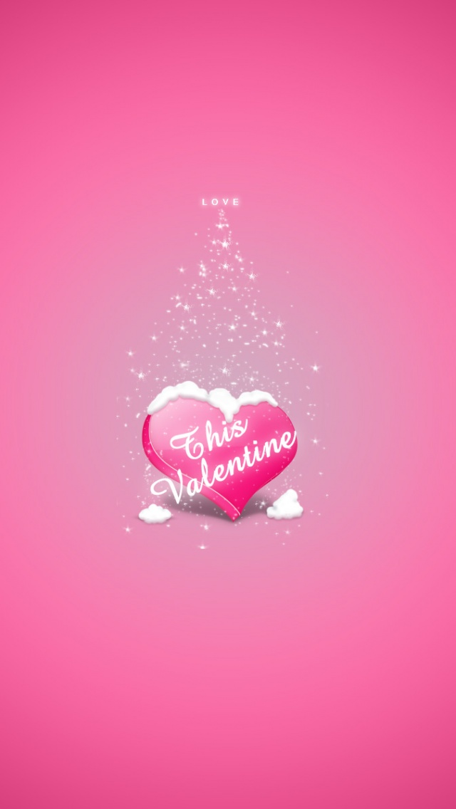 Love Pink Wallpaper Iphone 5 : 640x1136 Love Pink, valentines Iphone 5 wallpaper