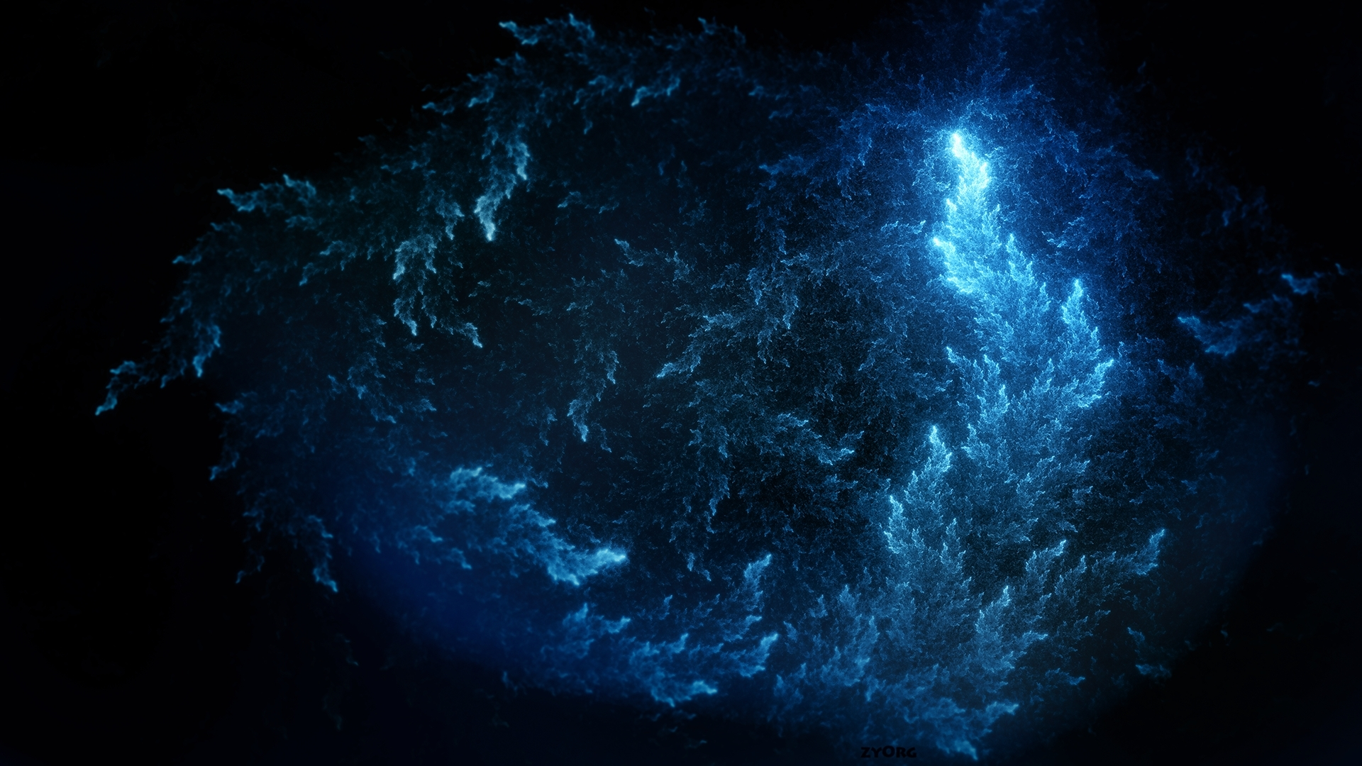 1920x1080 Lovely Blue Abstract Desktop PC And Mac Wallpaper