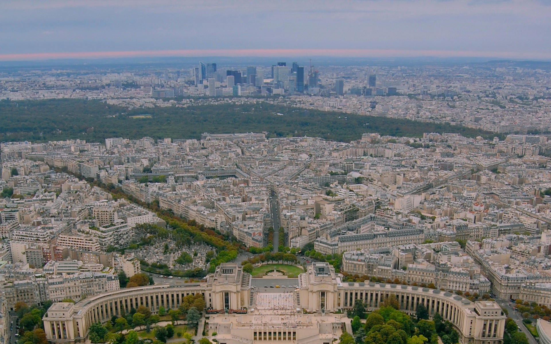 Lovely Paris Aerial View Wallpapers