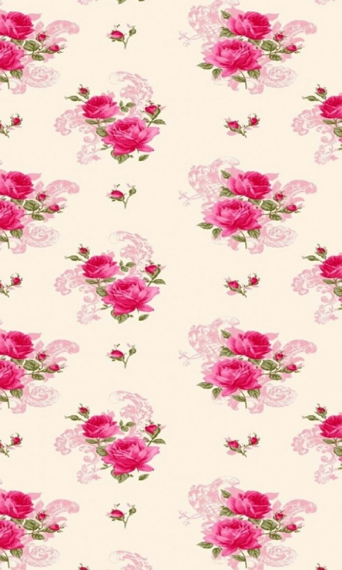 480x800 Lovely Pink Roses Pattern Galaxy s2 wallpaper