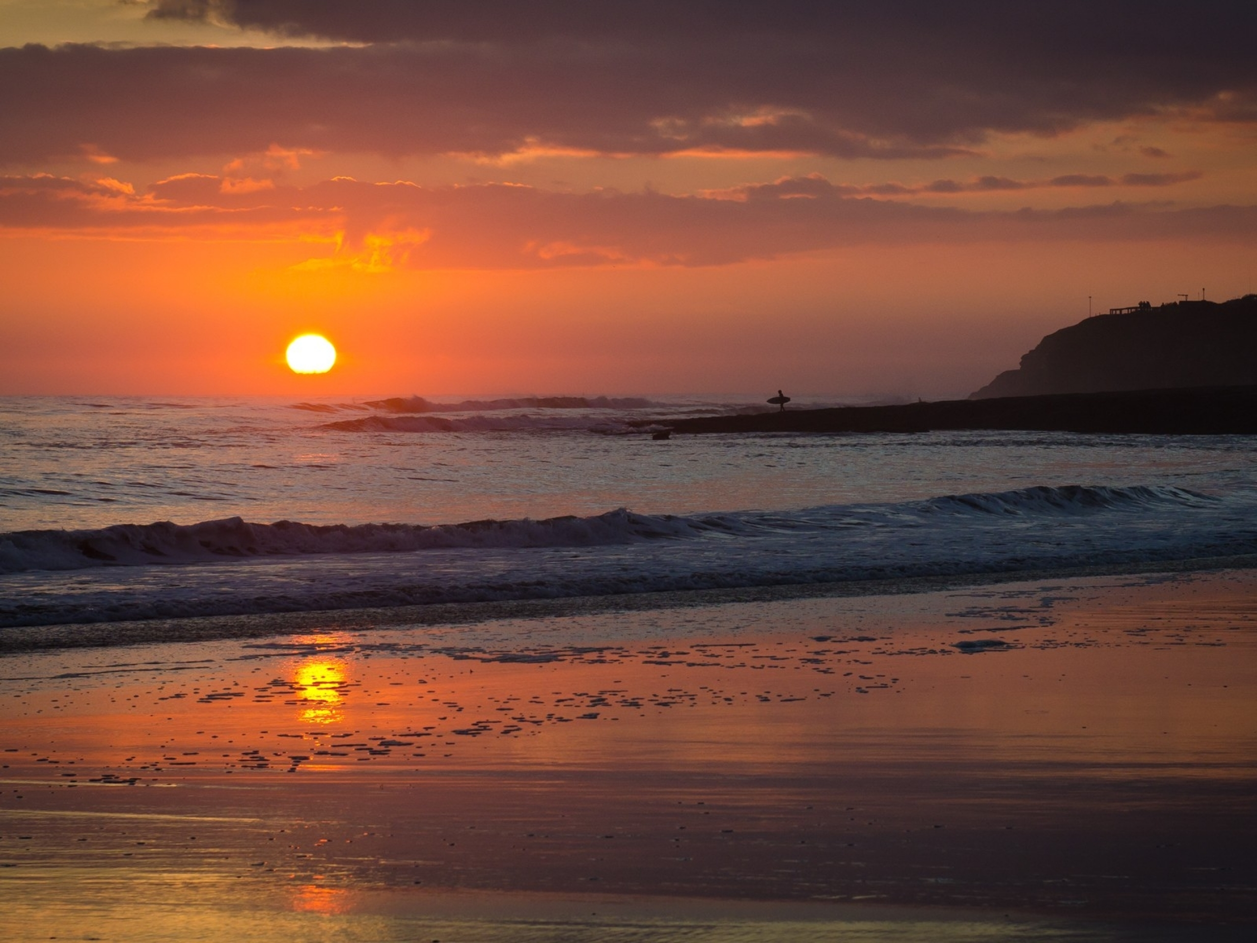 Tropical Island Beach Ambience Sound: Lovely Sunset Ocean & Beach Wallpapers