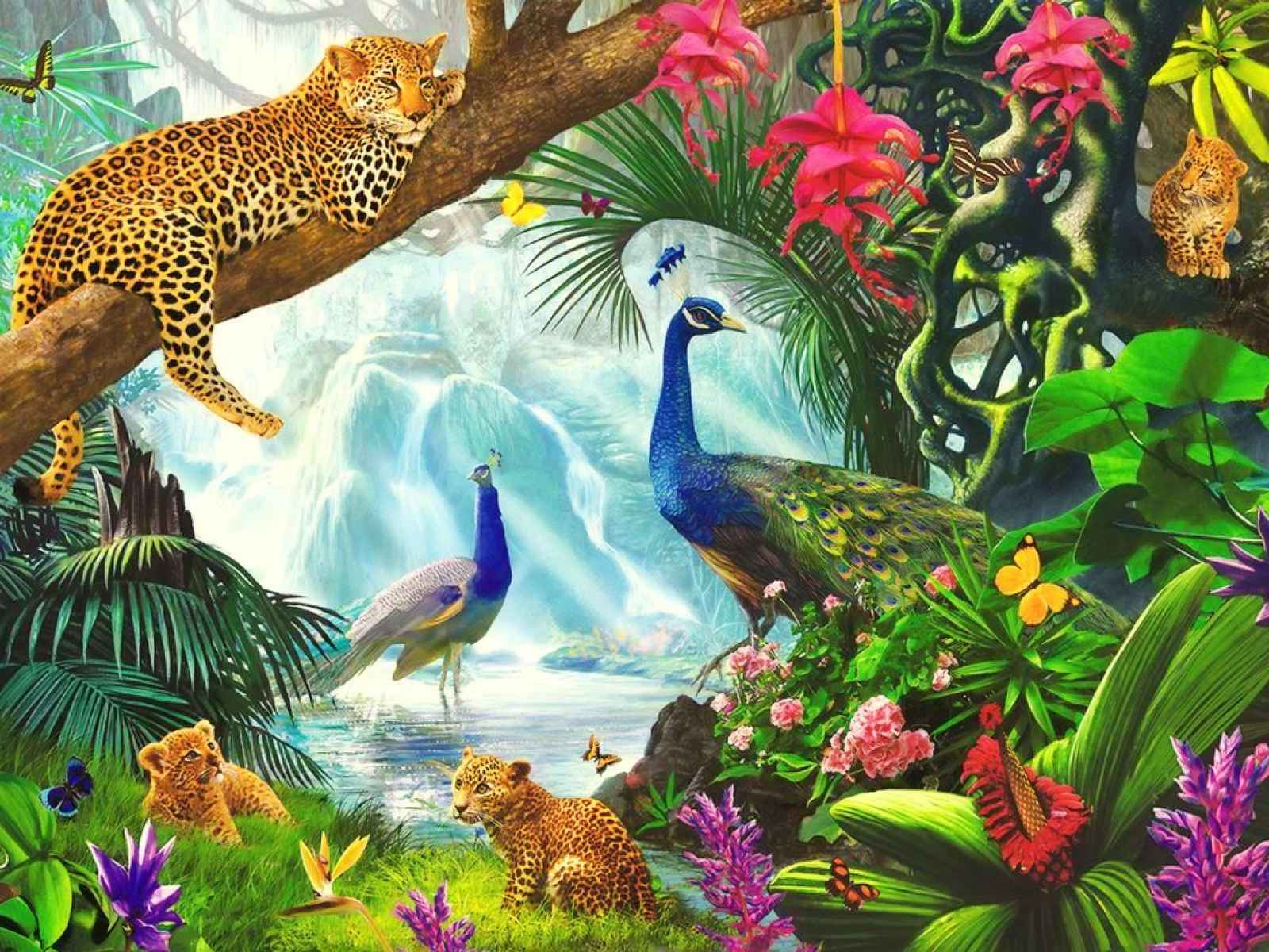 Real Fairytale Landscapes Lovely Wild Animals Pa...