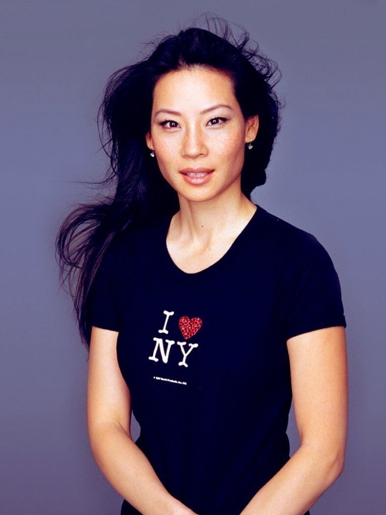 768x1024 Lucy Liu Black I Love Ny Shirt Ipad Wallpaper