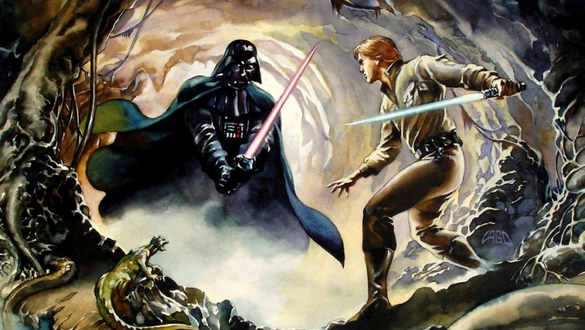 825x315 Luke Skywalker vs Darth Vader Facebook Cover Photo