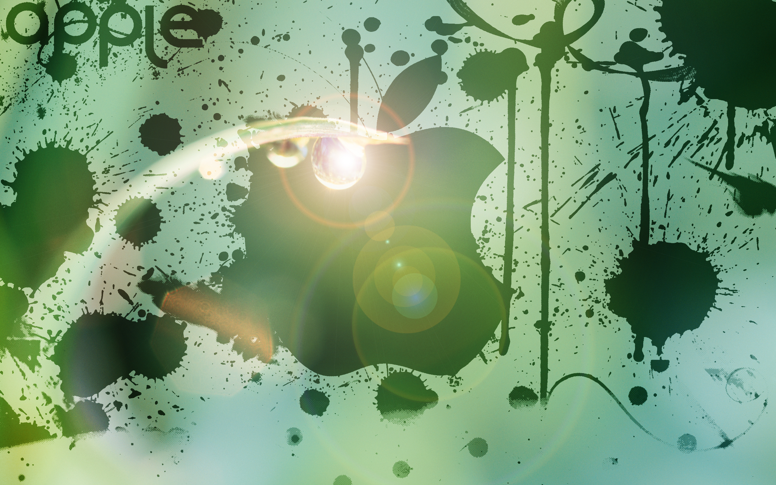 wallpapers manzana verde mac - photo #1