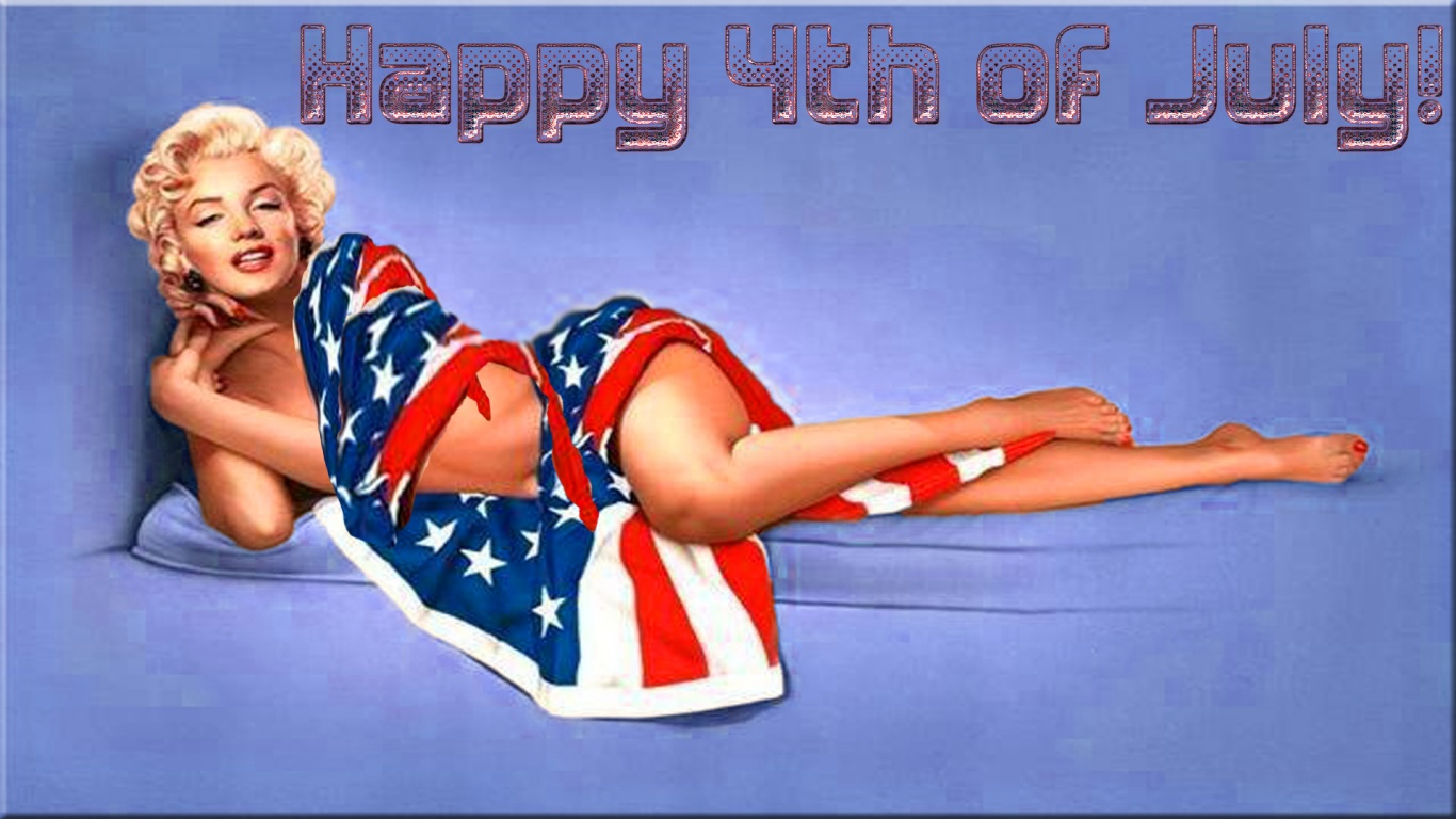 1366x768 Marilyn Monroe 4th Of July