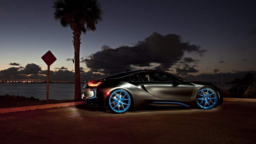 825x315 Matte Silver Bmw I8 Facebook Cover Photo