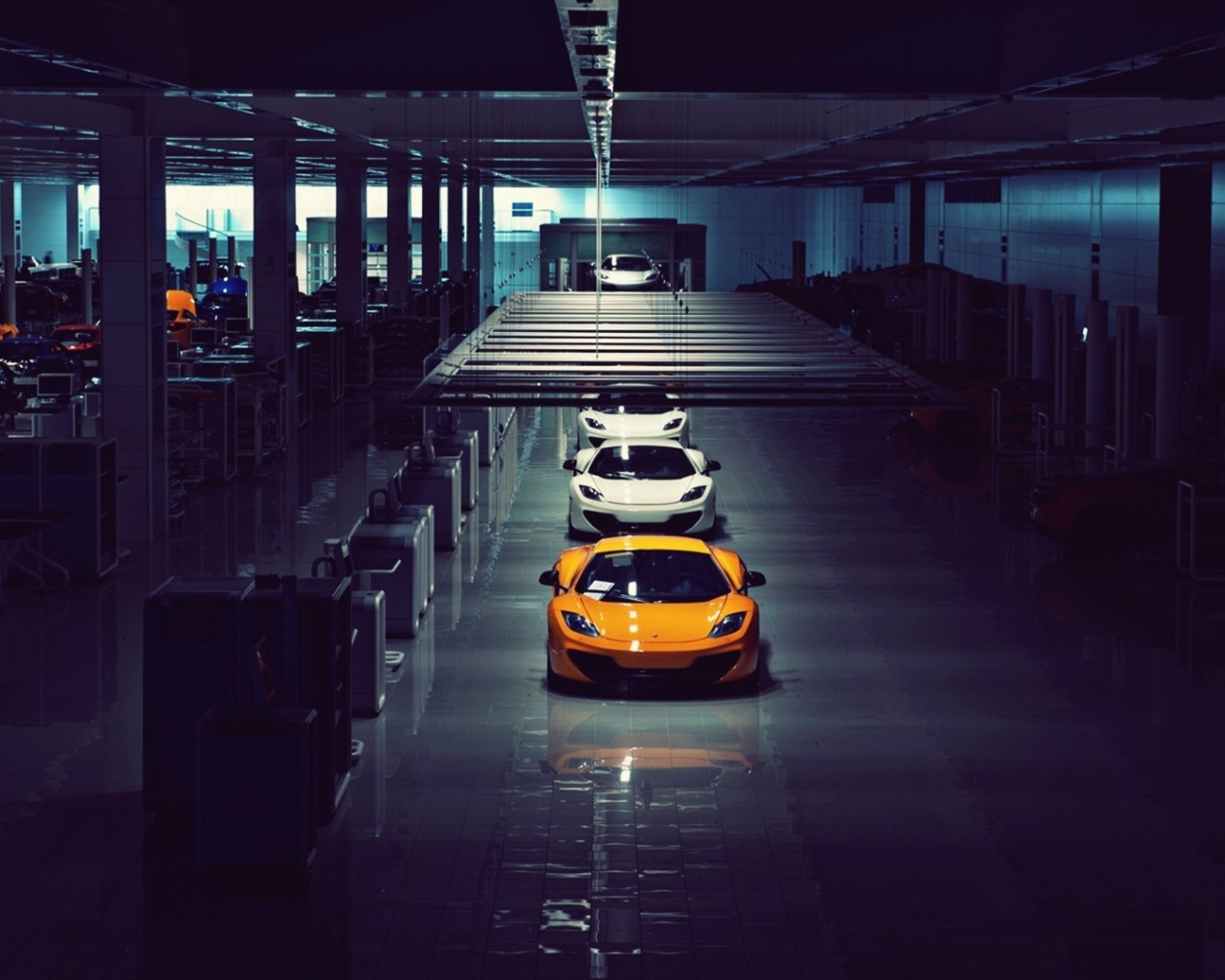 1280x1024 mclaren mp4 12c assembly line desktop pc and mac for Wallpaper home line
