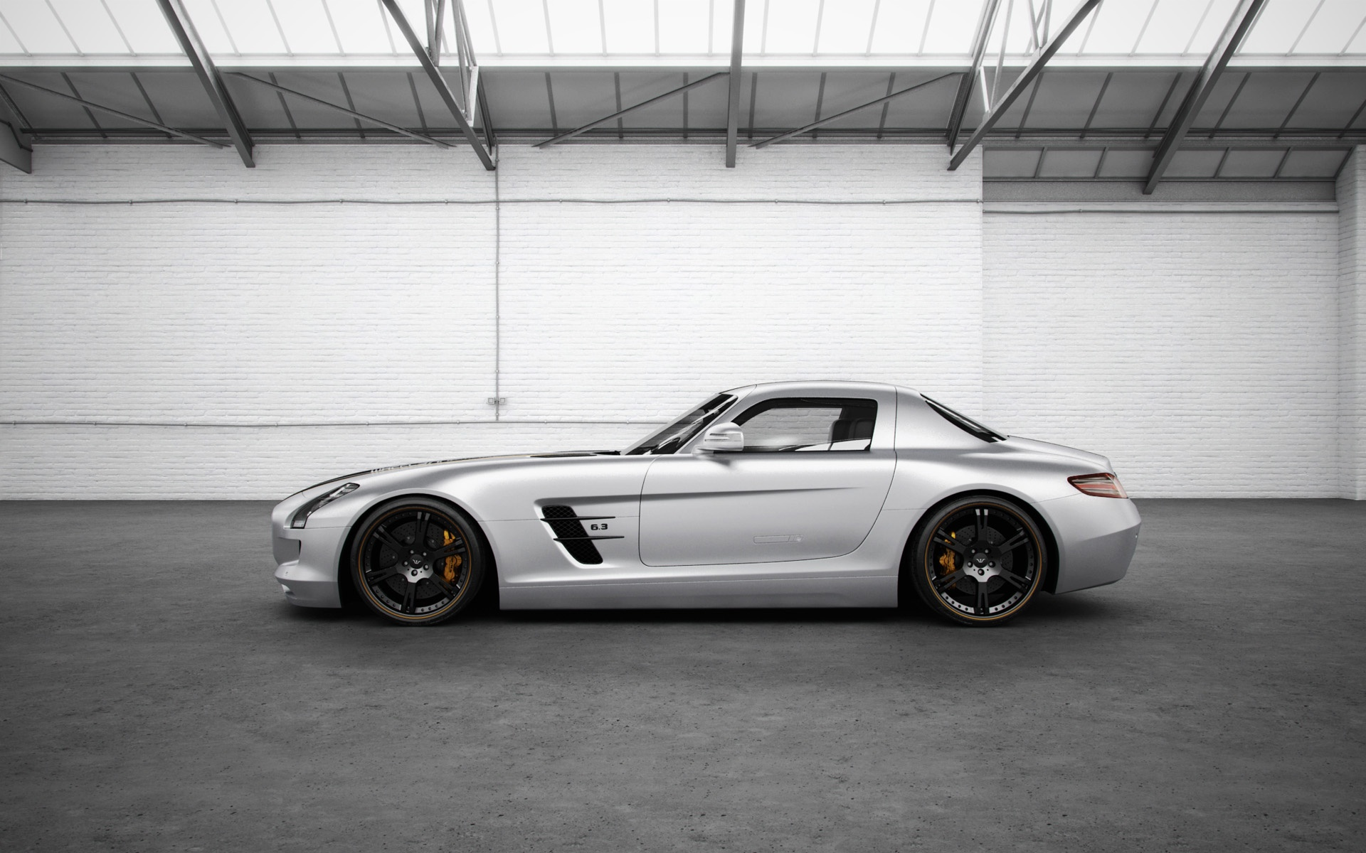 1920x1200 Mercedes Benz Sls Amg Silver Wing Side Desktop Pc And Mac