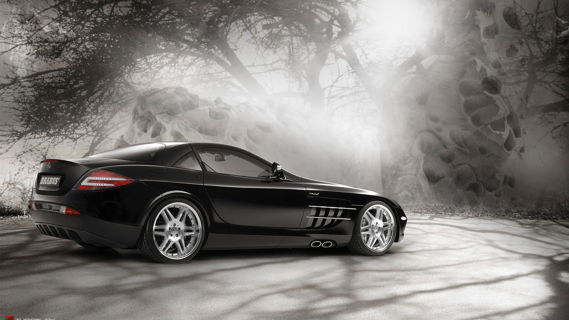 1920x1080 Mercedes Slr In Magic Forest 2 Desktop Pc And