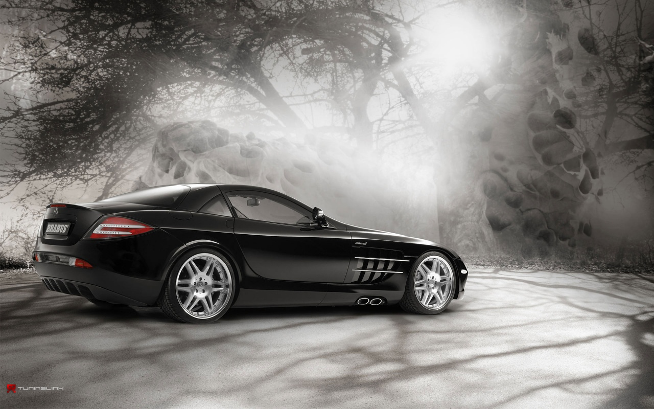 1280x800 Mercedes Slr In Magic Forest 2 Desktop Pc And Mac