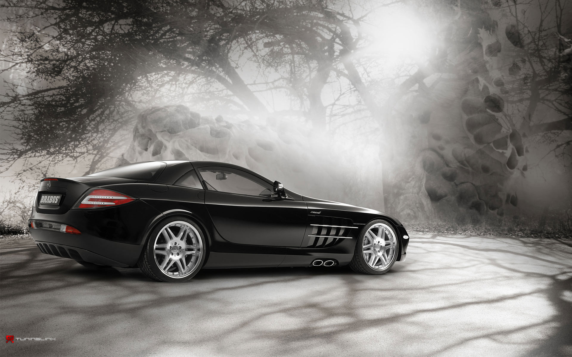 1920x1200 Mercedes Slr In Magic Forest 2 Desktop Pc And