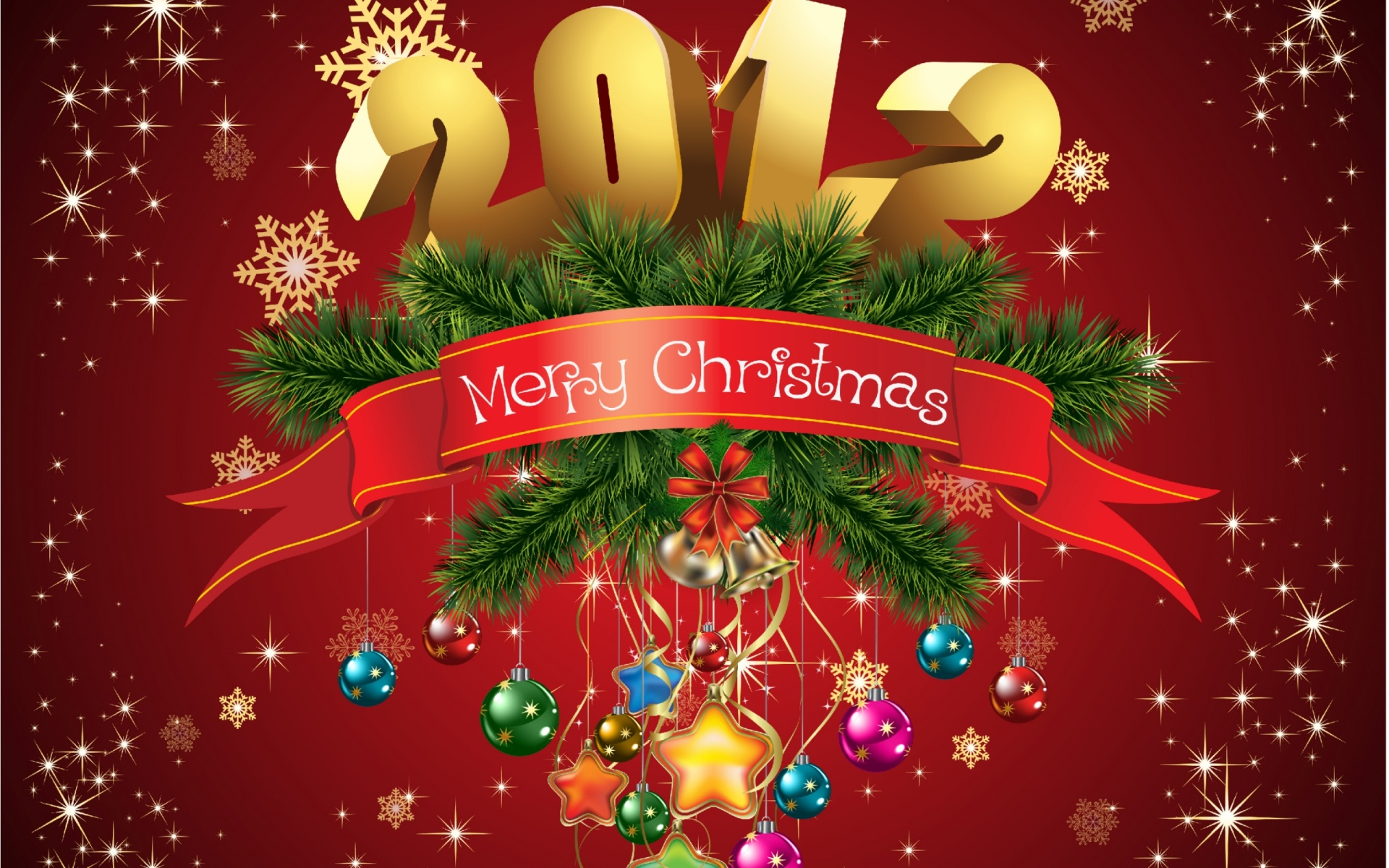 1920x1200 Merry Christmas 2012 desktop PC and Mac wallpaper