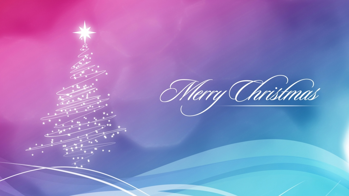 1366x768 merry christmas desktop pc and mac wallpaper