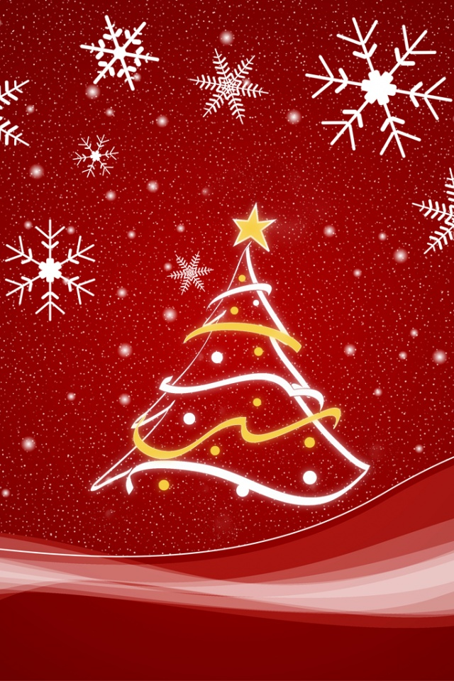 640x960 merry christmas iphone 4 wallpaper