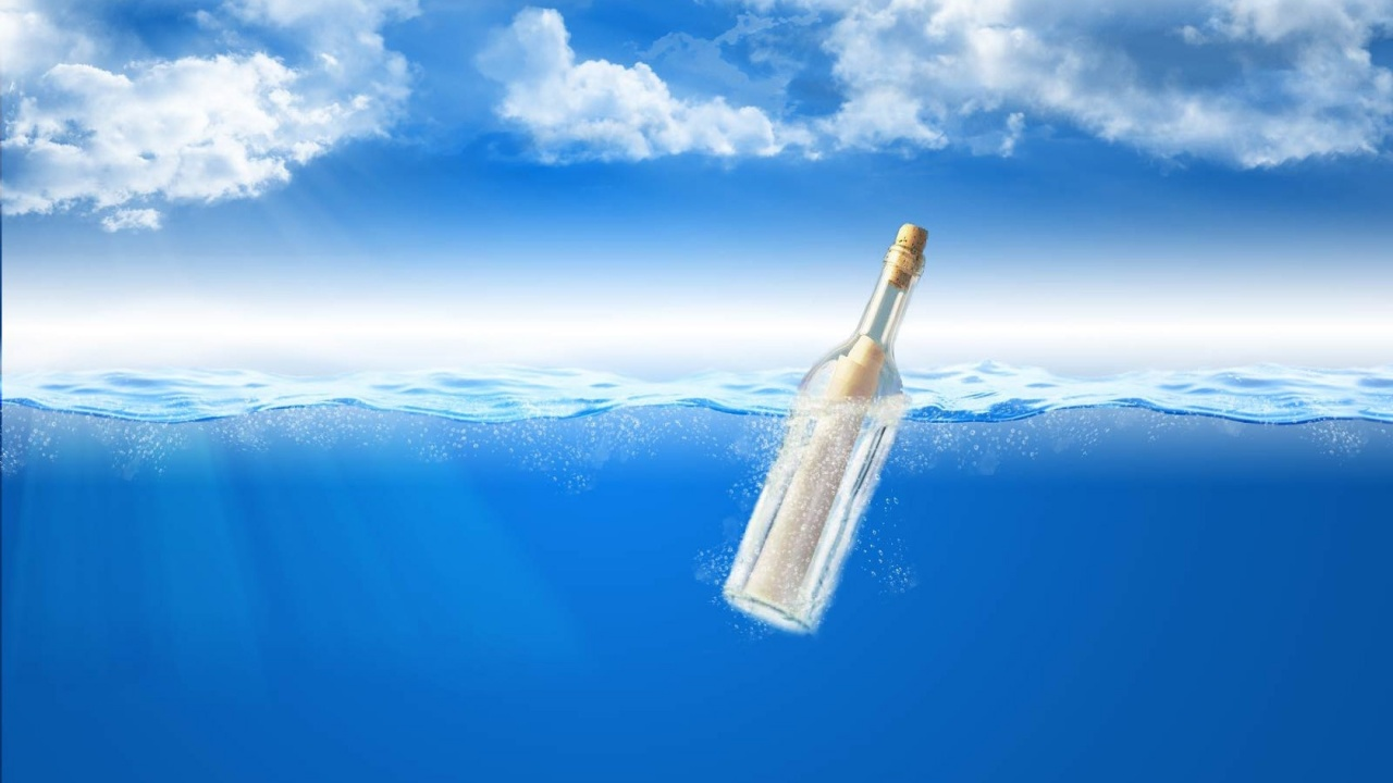 1280x720 Message in a bottle