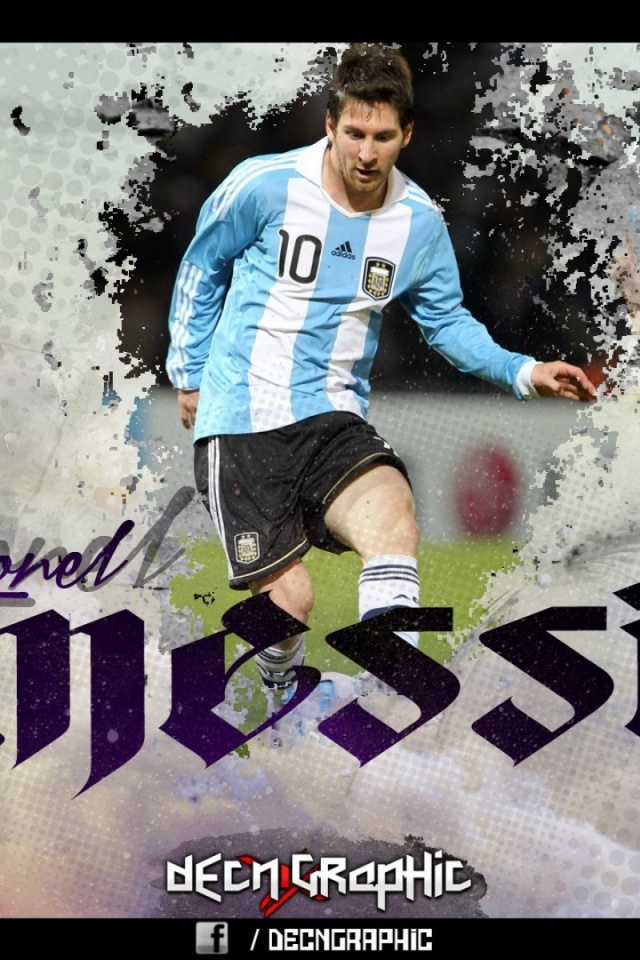 640x960 Messi Soccer Player Barcelona Iphone 4 Wallpaper