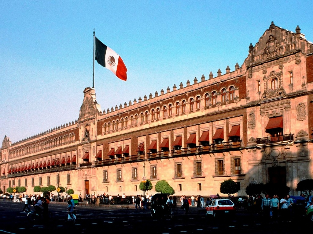 1024x768 Mexico City Flag