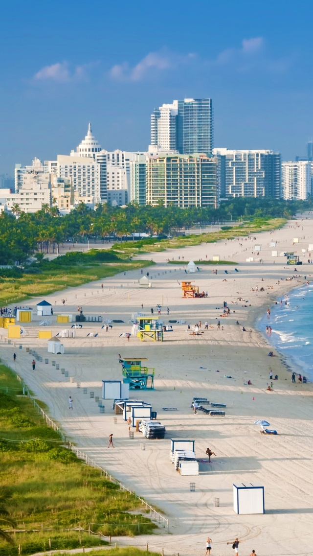640x1136 Miami South Beach Iphone 5 Wallpaper