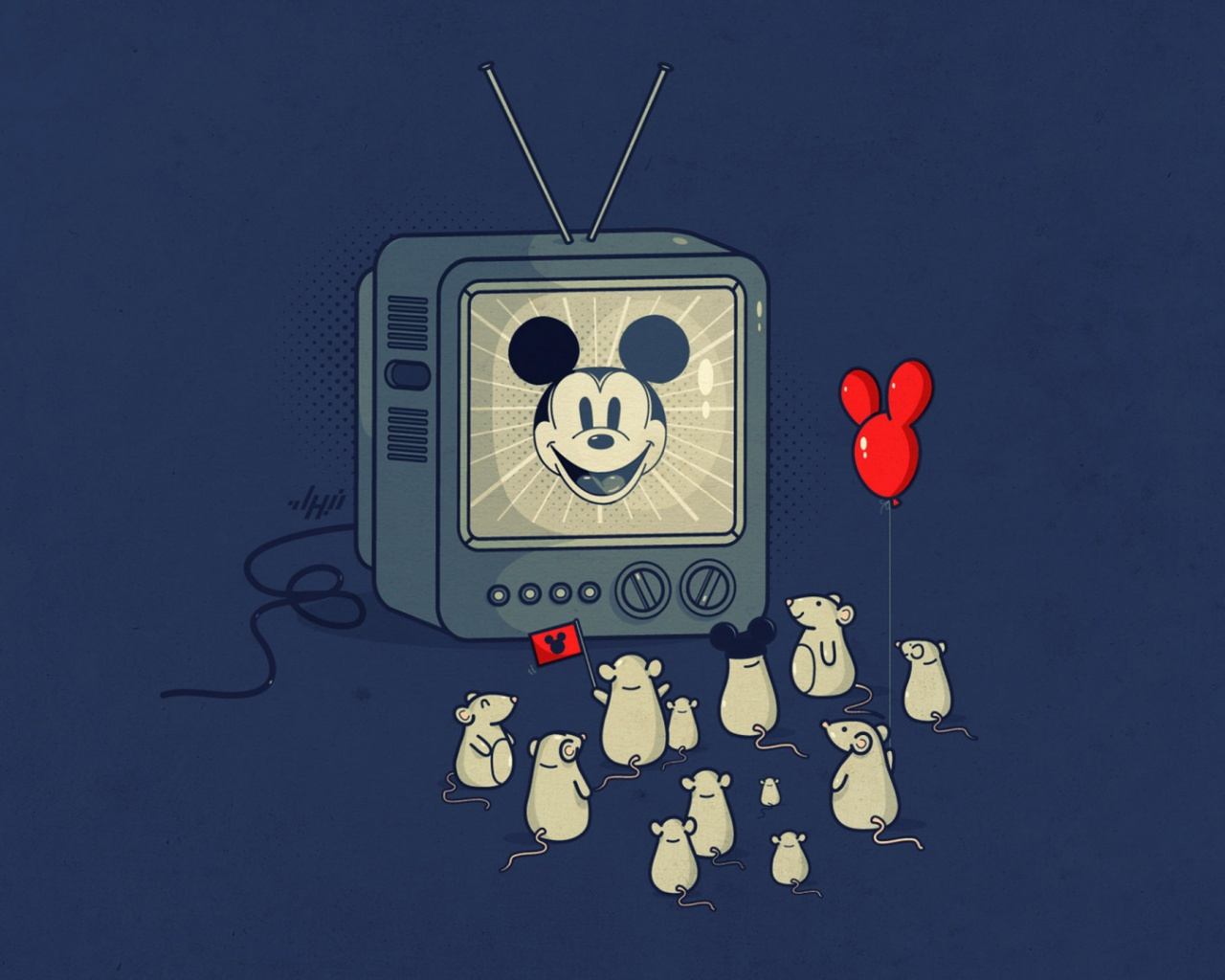 1280x1024 Mickey Mouse & Mice Funny desktop PC and Mac wallpaper