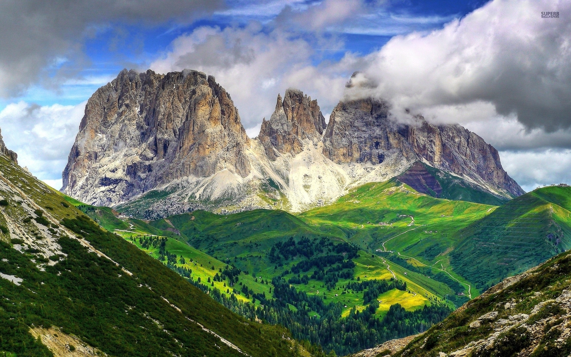 Mighty Dolomites Europe Italy Wallpapers