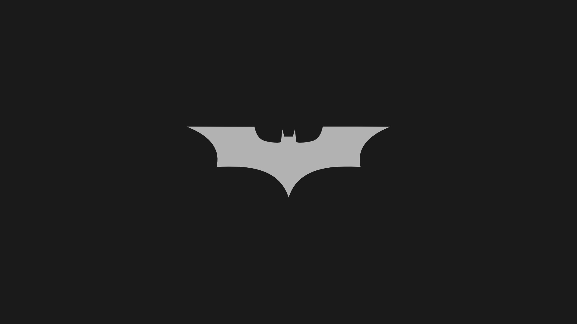 1920x1080 Minimalistic Batman Logo Desktop PC And Mac Wallpaper