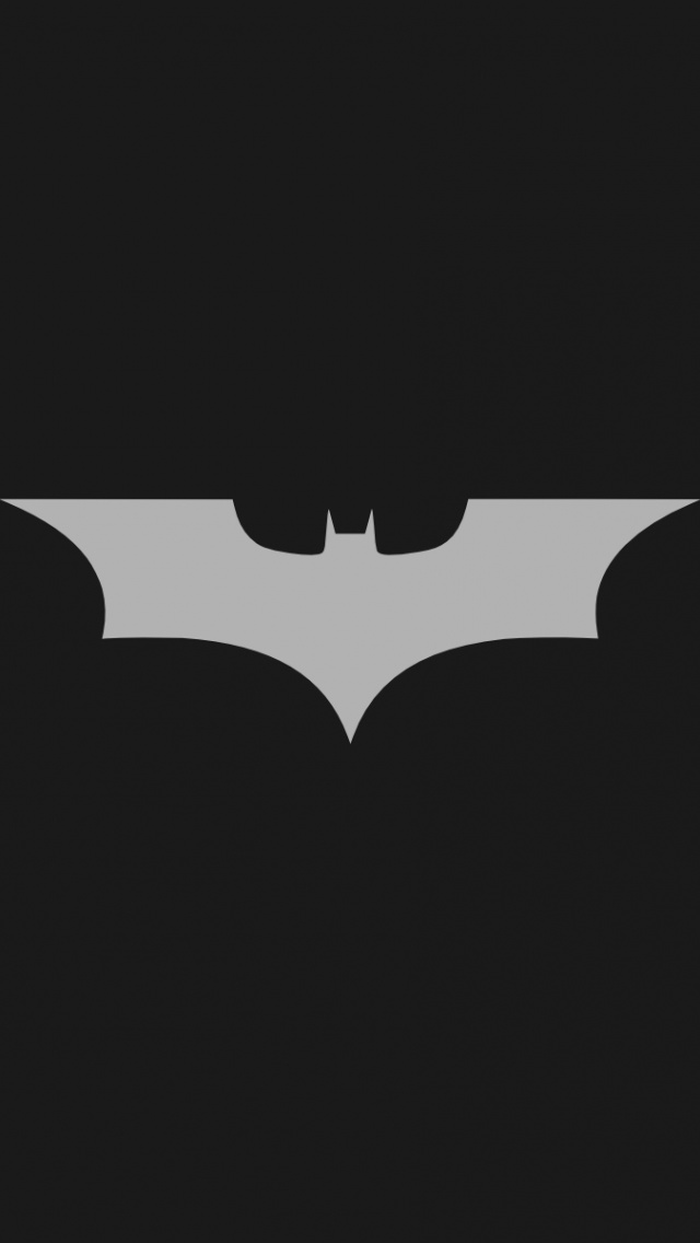 640x1136 Minimalistic Batman Logo Iphone 5 Wallpaper Pictures