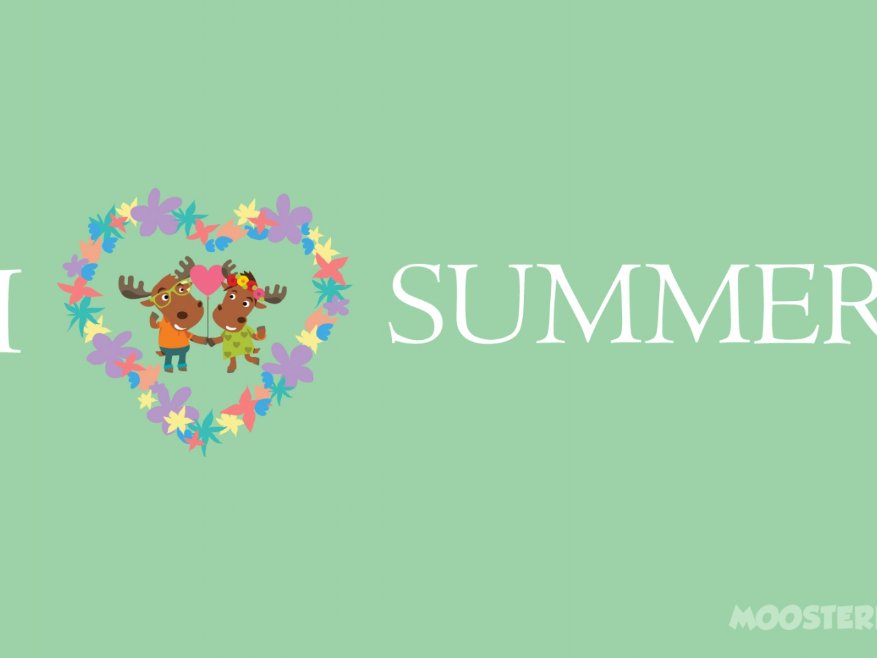 1280x960 Moose Love Summer