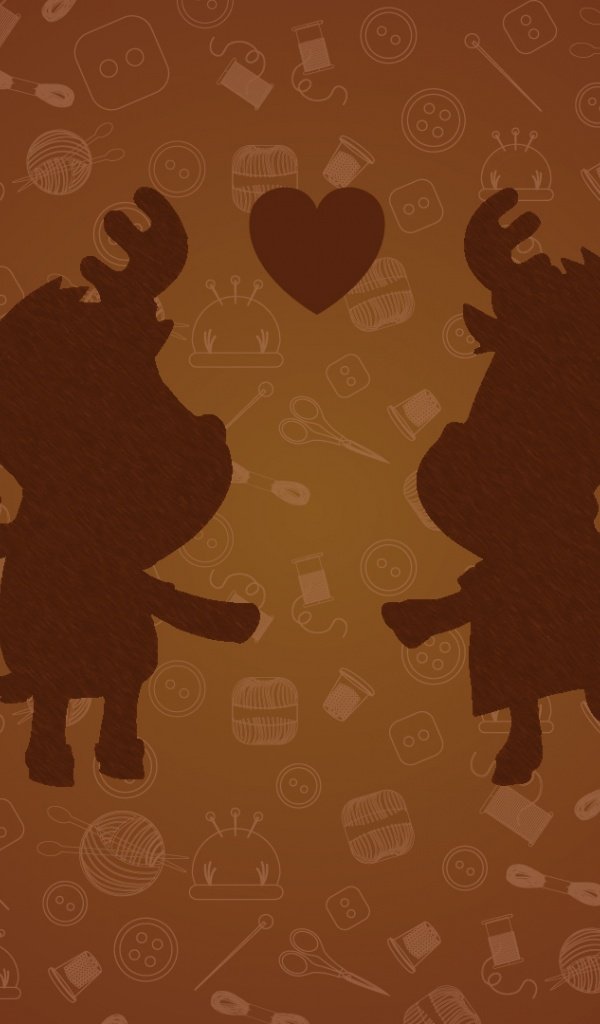 600x1024 Moose Loving Couple