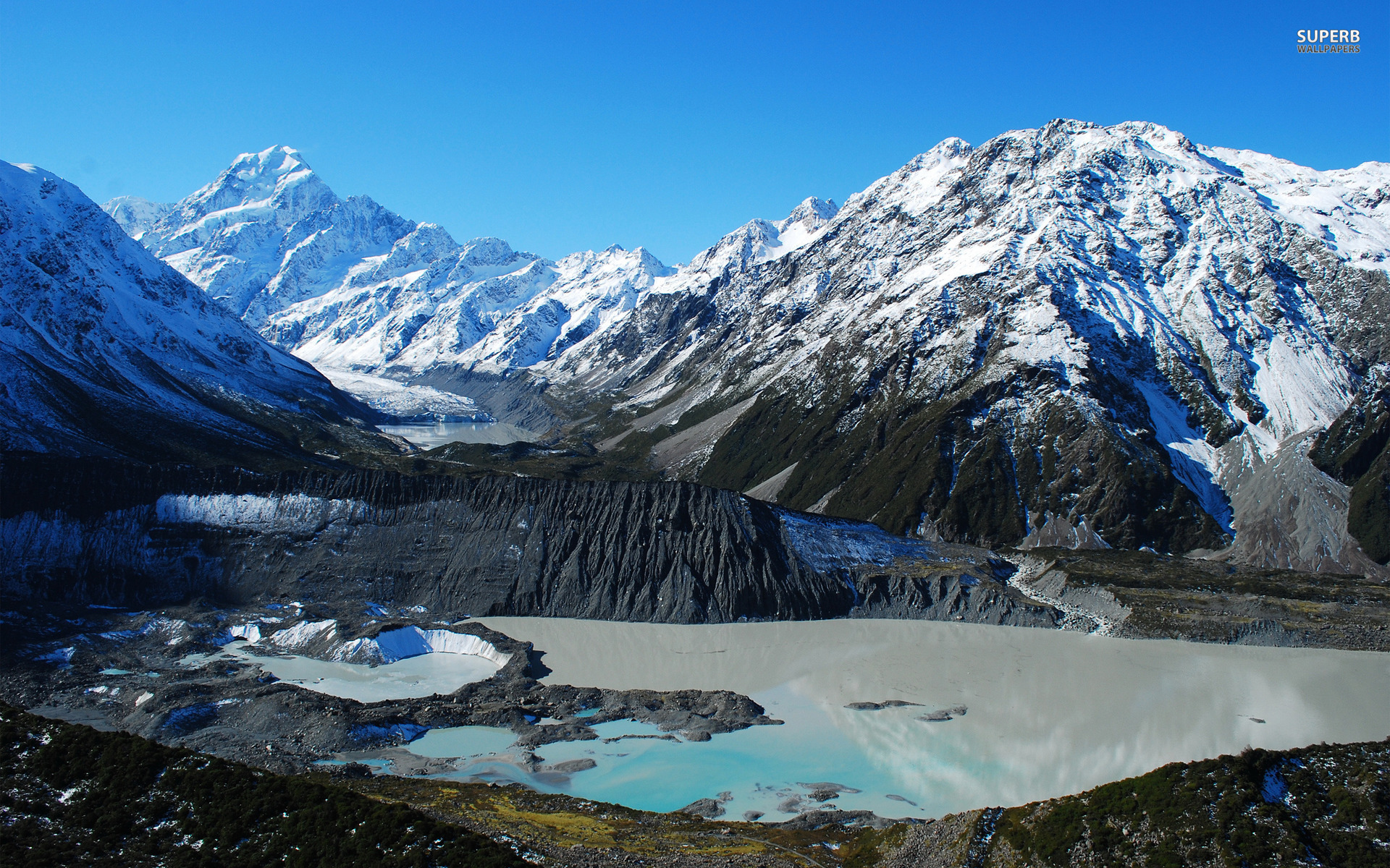 Mount Cook Two New Zealand Wallpapers Mount Cook Two New