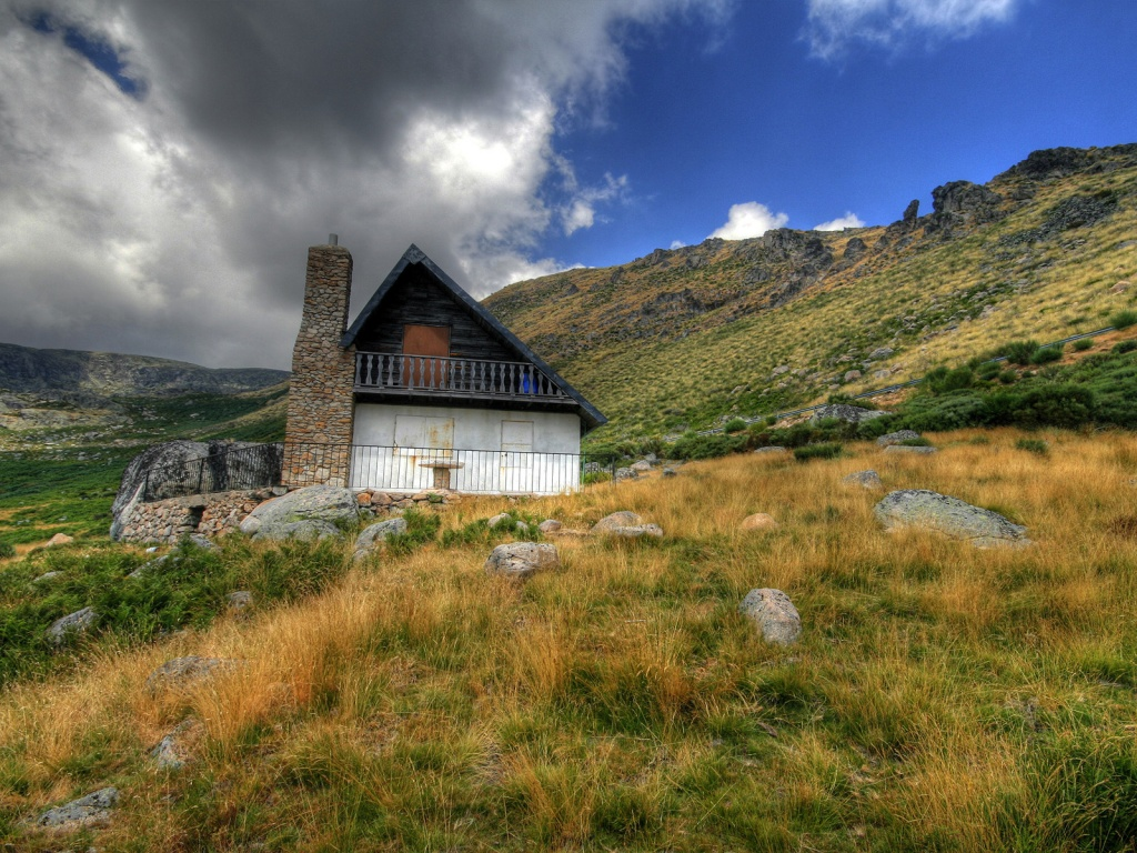 1024x768 mountain house desktop pc and mac wallpaper for Wallpaper home photos