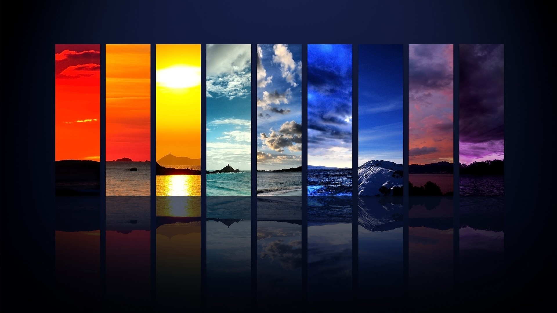 1920x1080 mountains oceans collage how to set wallpaper
