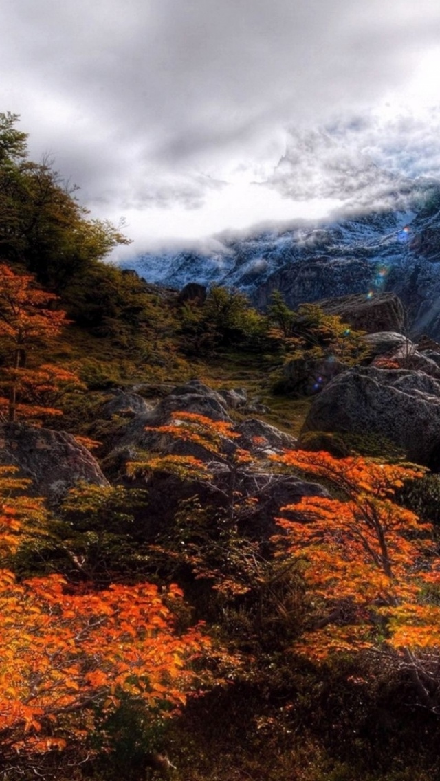 640x1136 Mountains Autumn Scenic Rocks Iphone 5 Wallpaper