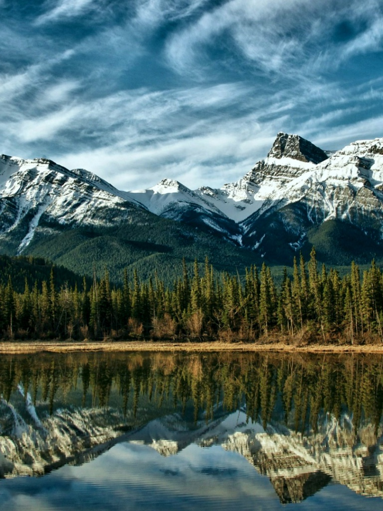 Great Wallpaper Mountain Ipad - mountains-forest-lake-canada_wallpapers_48305_768x1024  Trends_113615.jpg