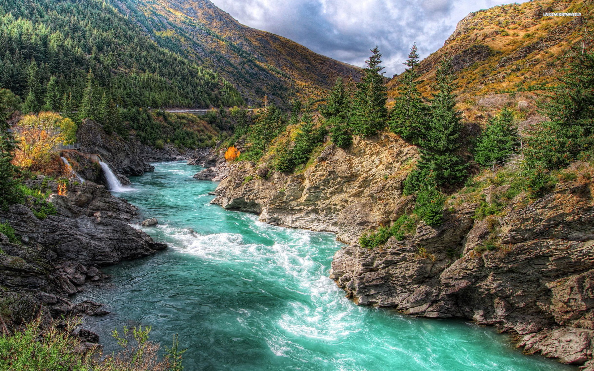 mountains river rocks trees wallpapers mountains river