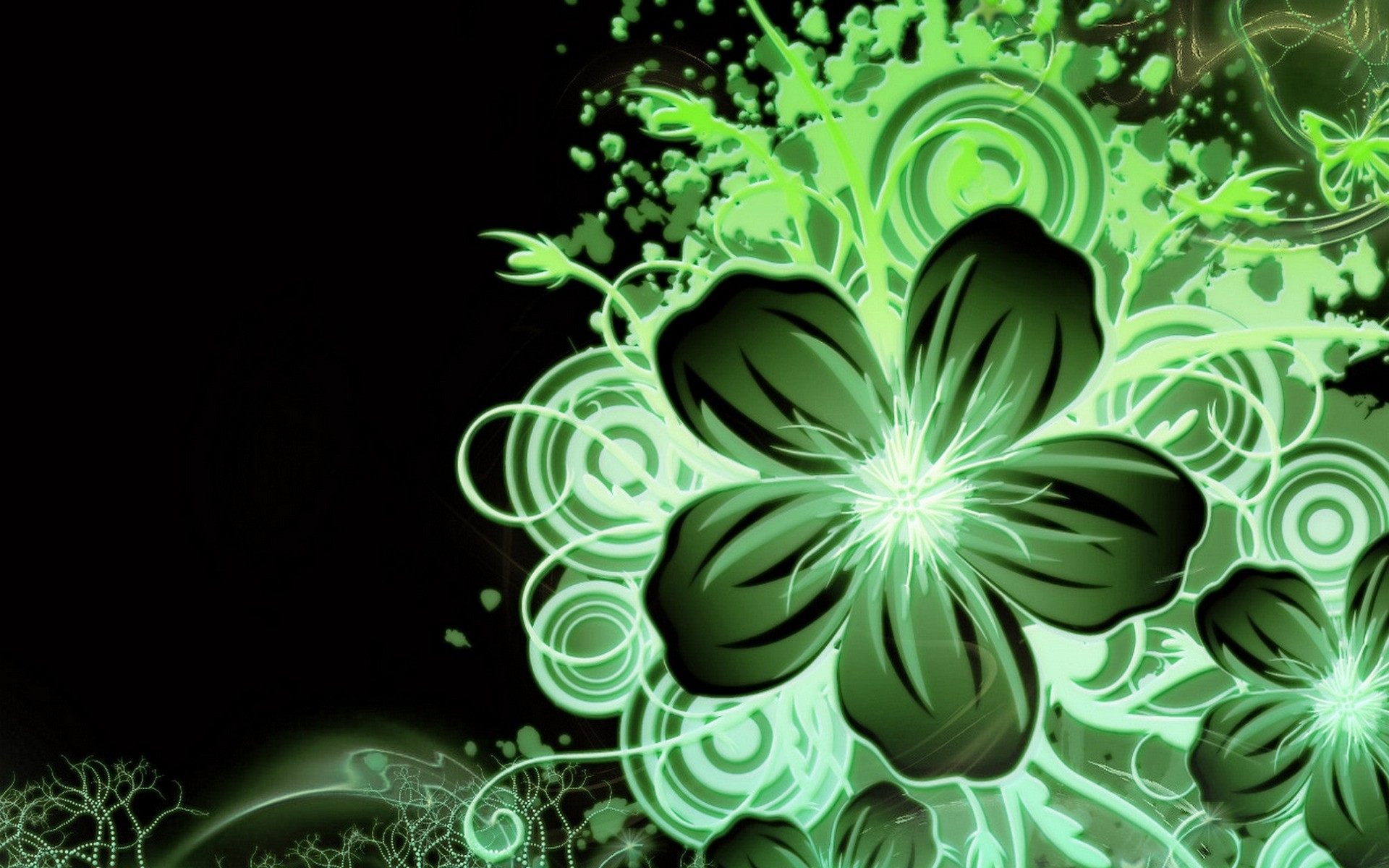 Multi Color Green Flower Wallpapers Multi Color Green Flower Stock
