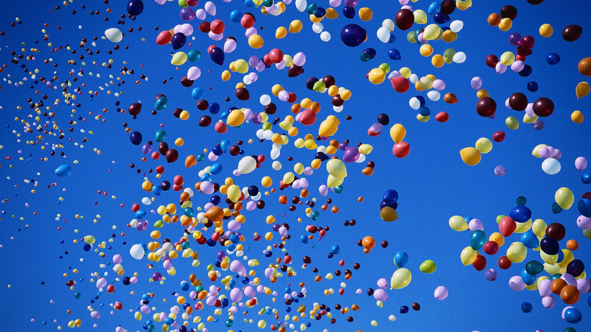1920x1080 Multicolored Balloons On Blue Sky Desktop Pc And Mac Wallpaper