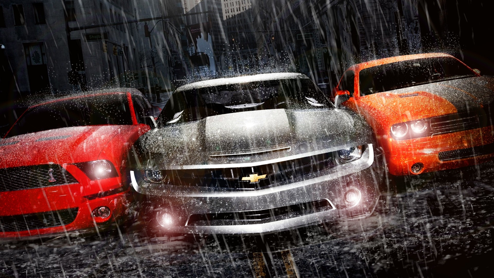 Muscle Cars Trio Desktop Pc And Mac Wallpaper