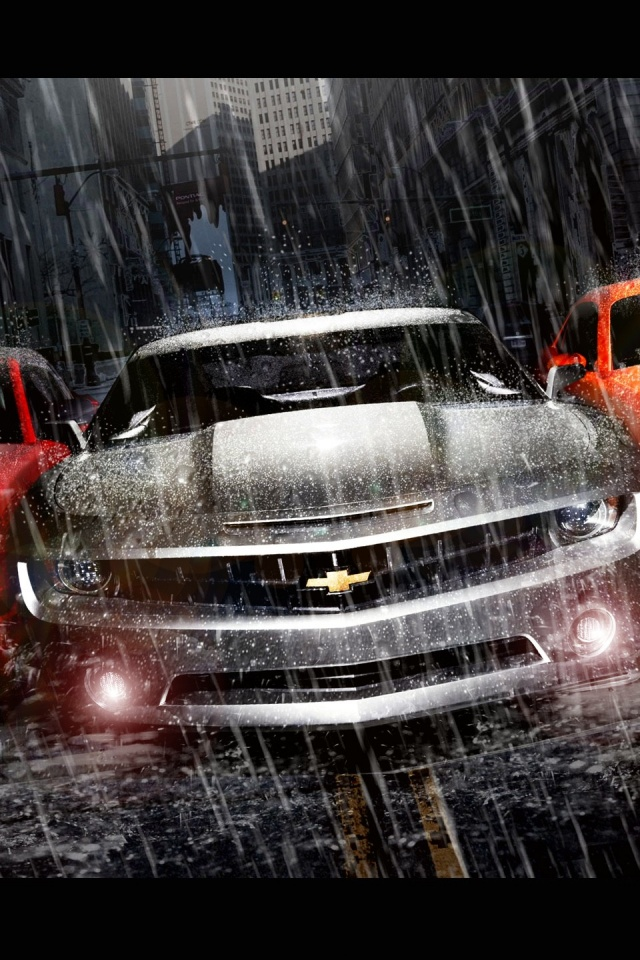640x960 Muscle Cars Trio Iphone 4 Wallpaper