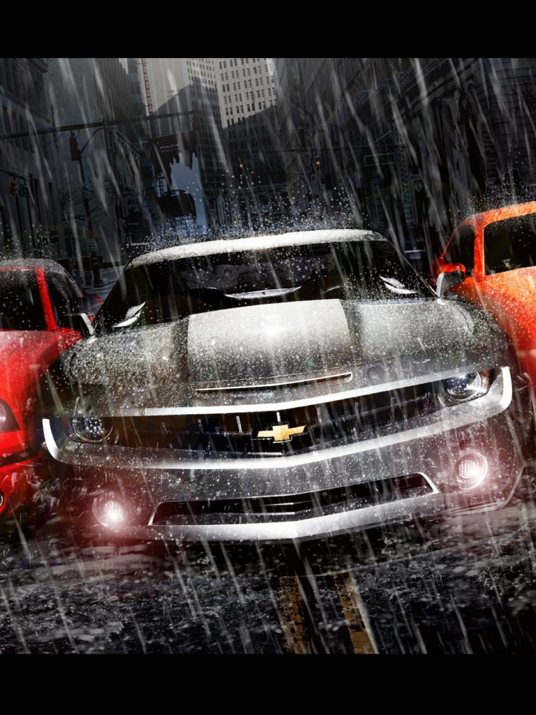 Awesome 768x1024 Muscle Cars Trio