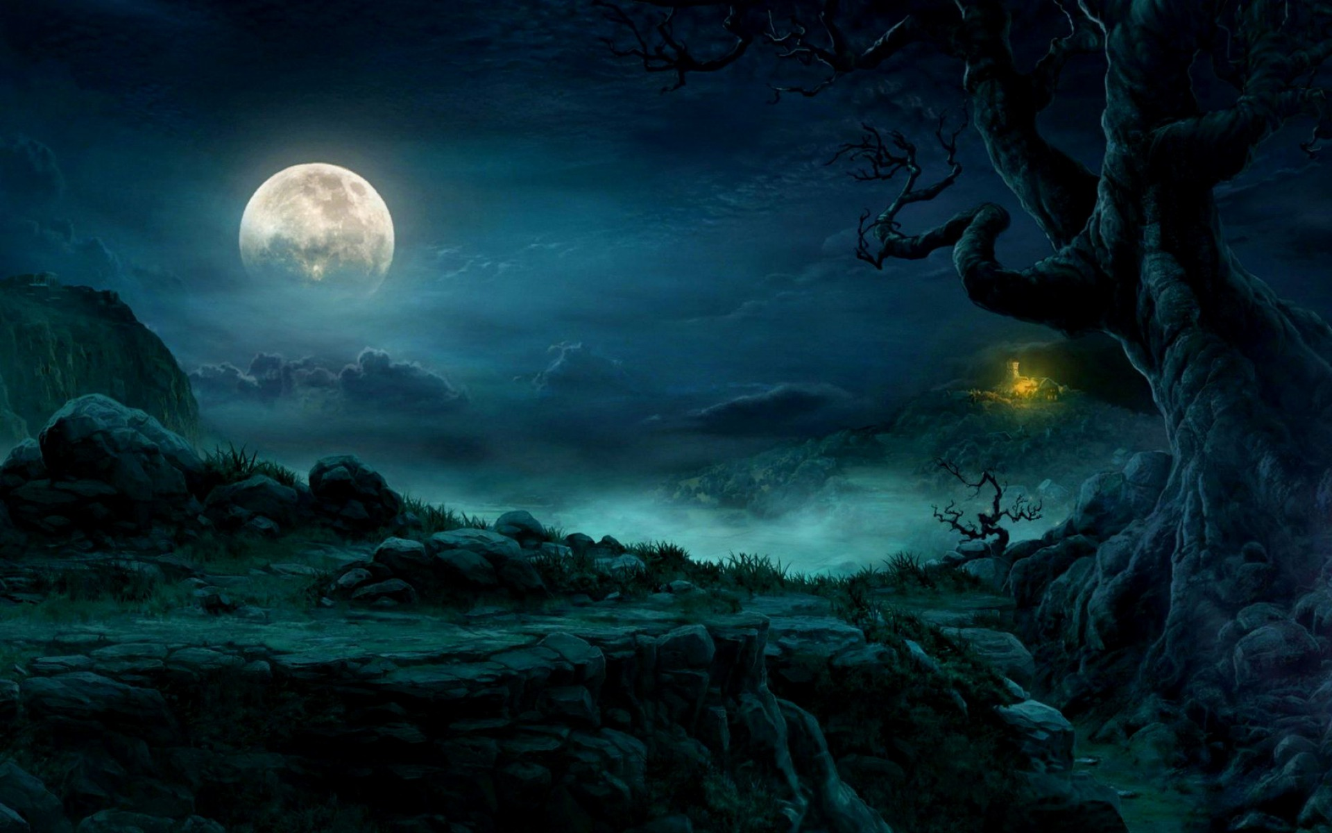 mysterious night full moon wallpapers | mysterious night full moon
